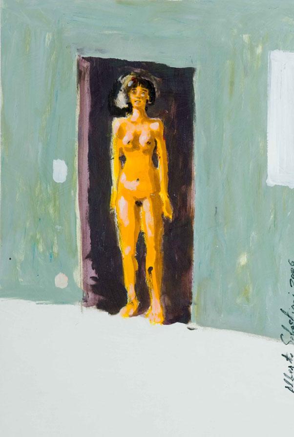 girl in the door